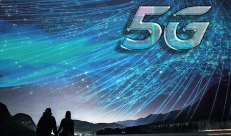 5G beaming across the landscape